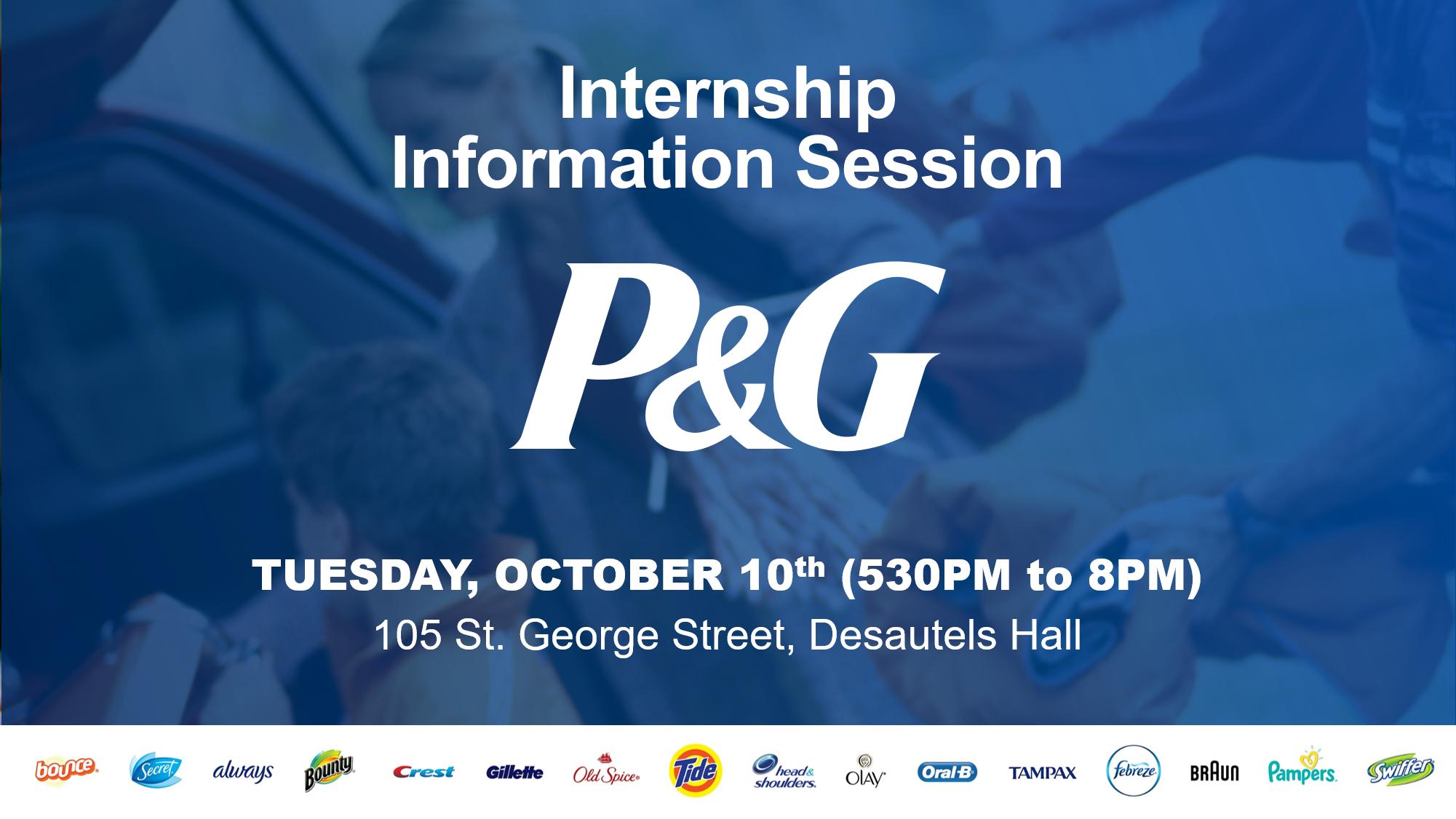 Procter & Gamble Info Session PEY @ Desautels Hall, Rotman School of Management   Toronto   Ontario   Canada