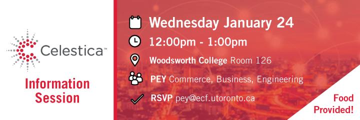 Celestica Info Session @ Woodsworth College Room 126 | Toronto | Ontario | Canada