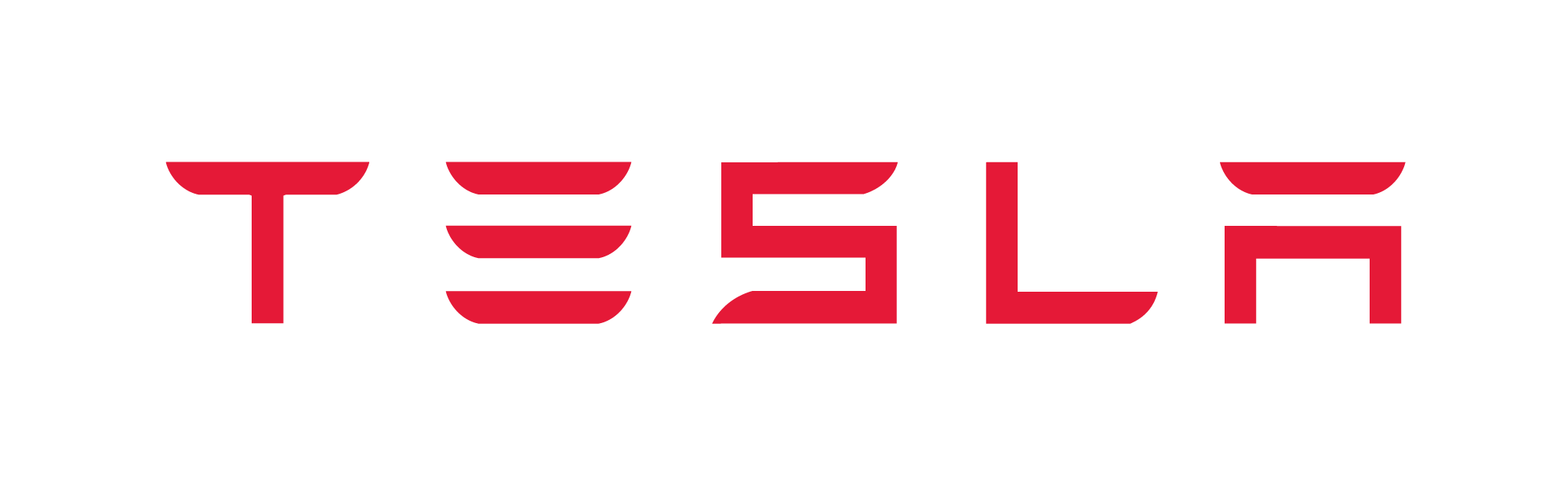 Tesla Wordmark Red